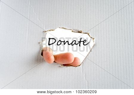 Donate Text Concept