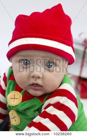 Festive Baby And Presents