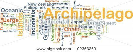Background concept wordcloud illustration of Archipelago