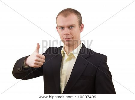 Businessman Showinh Ok Gesture
