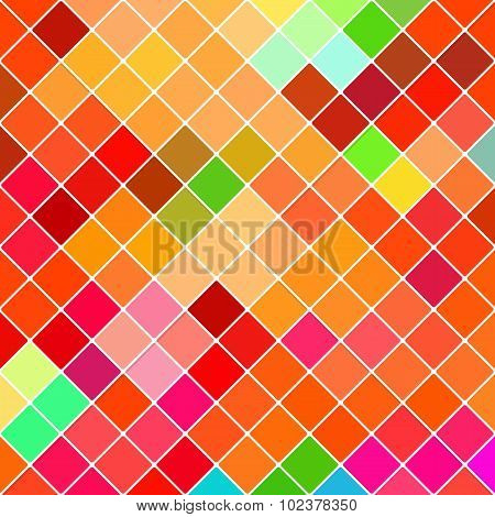Abstract dark disco background of colorful lozenges