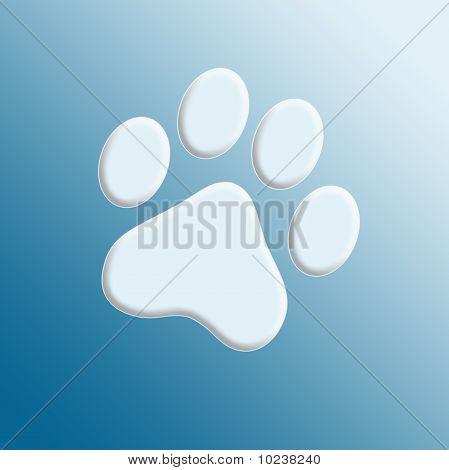 Embossed paw print