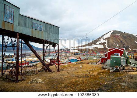 Abandoned Cablecar Station Used For Coal Transportation, Svalbard