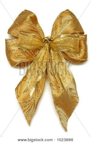Gold Xmas Bow