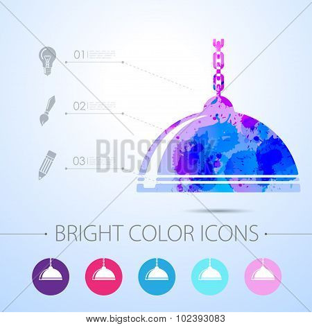 Vector luster icon. with infographic elements