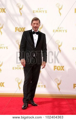 LOS ANGELES - SEP 20:  Nikolaj Coster-Waldau at the Primetime Emmy Awards Arrivals at the Microsoft Theater on September 20, 2015 in Los Angeles, CA