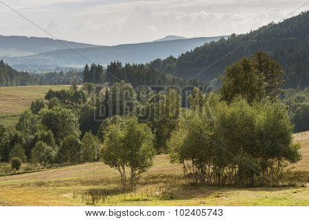 Summer Polish Landscape In Sudety Mountains
