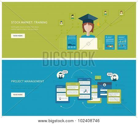 Project management  stock market - training