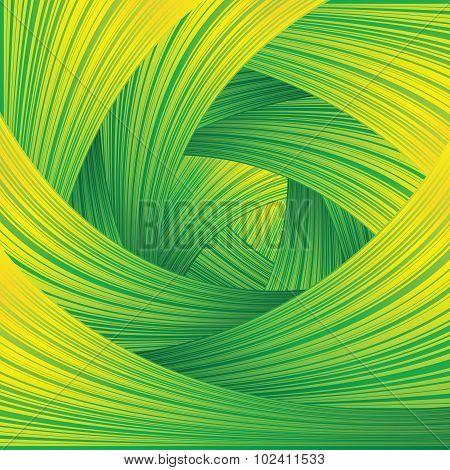 Fresh Green Swirl Background