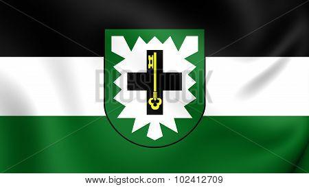 Flag Of Recklinghausen Kreis (north Rhine-westphalia), Germany.