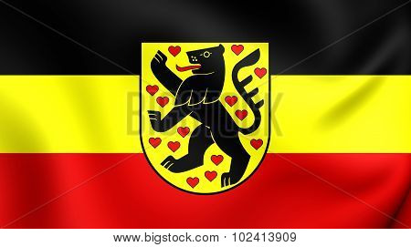 Flag Of Weimar City (thuringia), Germany.