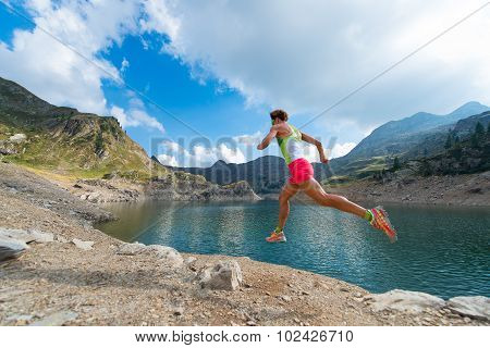 Mountain Running Girl