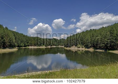 Small dam or reservoir in beautiful mountain Plana