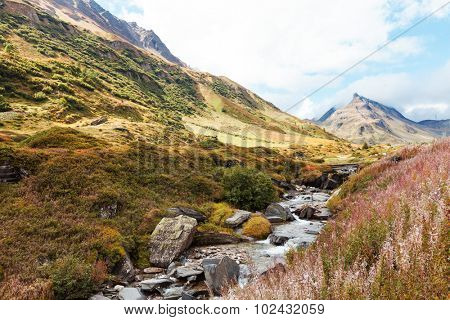 Swiss Alpine Landscape, stream