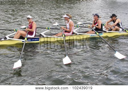 HENLEY, ENGLAND. 04-07-2010.  Gloucester R.C. & Leander Club winners of The Princess Grace Challenge Cup  on day 5 of the Henley Royal Regatta 2010 held on the River Thames.