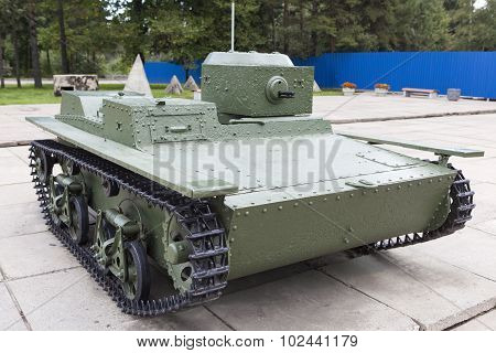 T-38 - Soviet small floating tank. Museum-Reserve