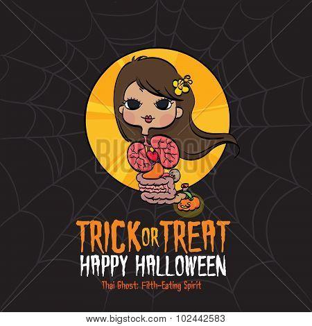 Halloween Trick or Treat Thai Ghost
