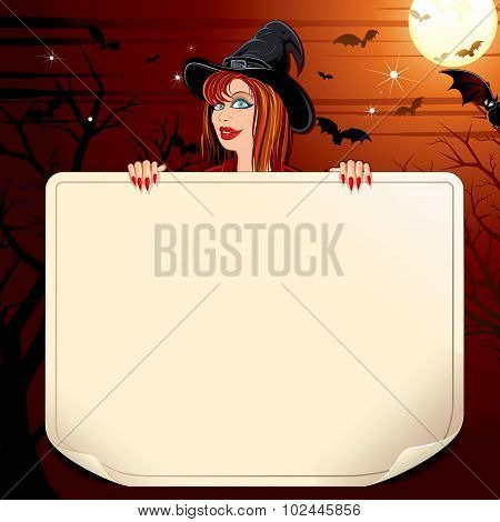 Witch with Paper Scroll