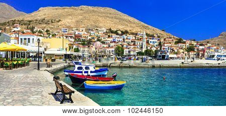 Colors of Greece series - beautiful island Chalki (Dodecanese)