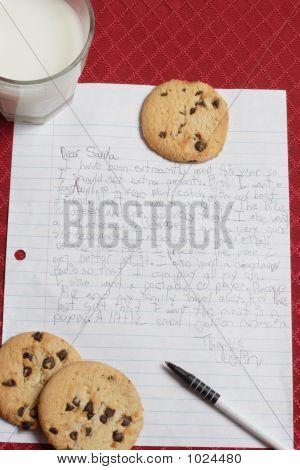 Letter To Santa. Vertical Image