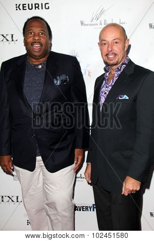 LOS ANGELES - SEP 21:  Leslie David Baker, Michael O'Conner at the The Human Rights Hero Awards at the Beso on September 21, 2015 in Los Angeles, CA