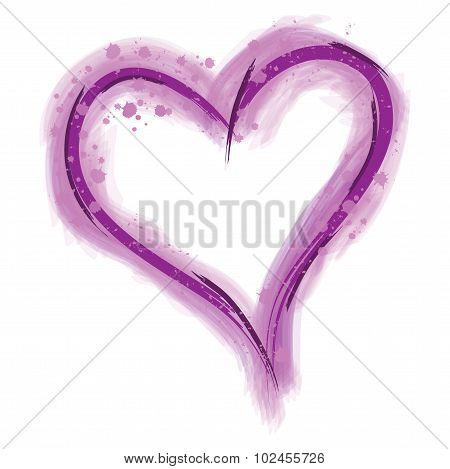 Purple Paint Heart