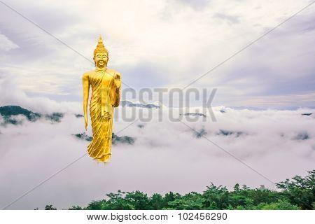 Stand Buddha Statue In Thailand