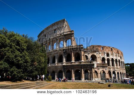 Colosseum, Rome, Italy - July 11. 2012.: View of The Colosseo in Rome