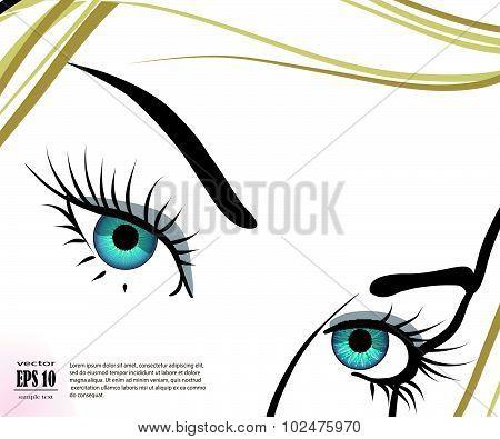 Beautiful Blue Eyes With Long Eyelashes
