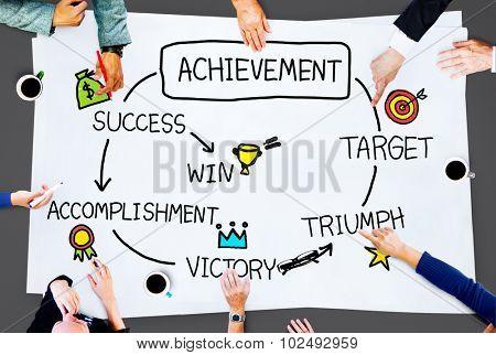 Achievement Target Accomplishment Goal Success Concept poster