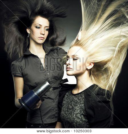 Woman In A Beauty Salon