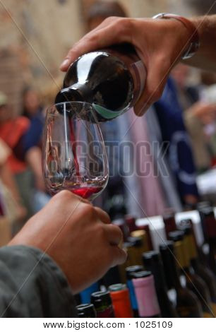 Serving Glass Of Wine