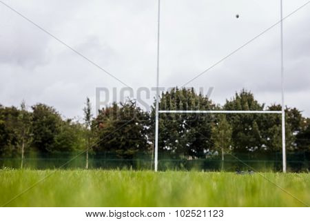 Rugby pitch with no players at the park