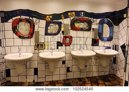 Public Toilets, Designed By Hundertwasser In Vienna, Austria