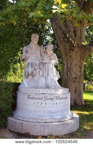 Monument Of Painter Ferdinand Georg Waldmuller, Rathauspark, Vienna