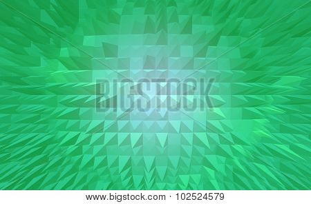 Light green pyramid earth digital abstract background.