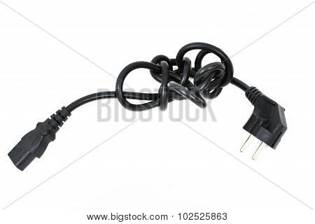 Electric Connection Computer Wire With Kink