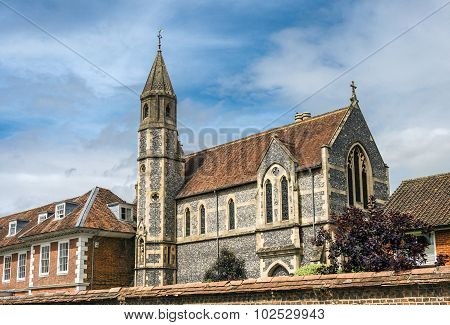 Sarum College And Cathedral Close, Salisbury, England