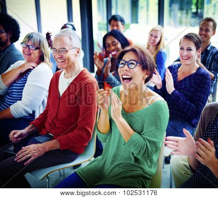 Audience Applaud Clapping Appreciation Training Concept poster