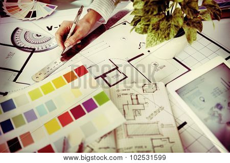 Designer Working Project Planning Creative Concept