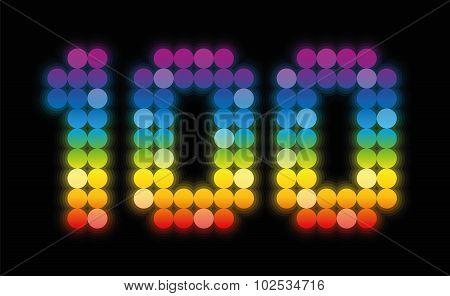 Hundred Jubilee Anniversary Celebration Rainbow Colors