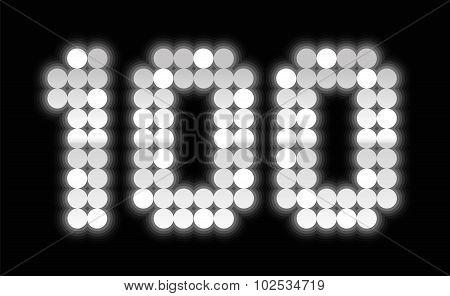 Hundred Jubilee Anniversary Celebration Shiny Silver Platelets