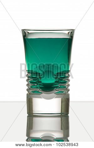 Beautiful shot glass back lit