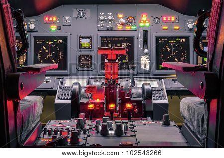 Cockpit Of Homemade Flight Simulator - Concept Of Aerospace Industry Development - Flying Sim School