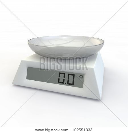 Kitchen Scales With Glass Cup