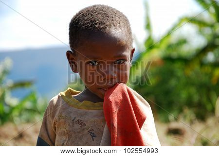 A little girl of African Mountain Kilolo, Tanzania - Africa