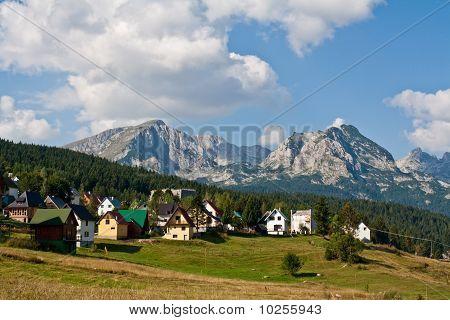 City in the mountains of Montenegro (Crna Gora), Zabljak