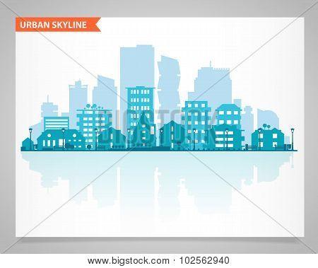 Various part cities skyline set