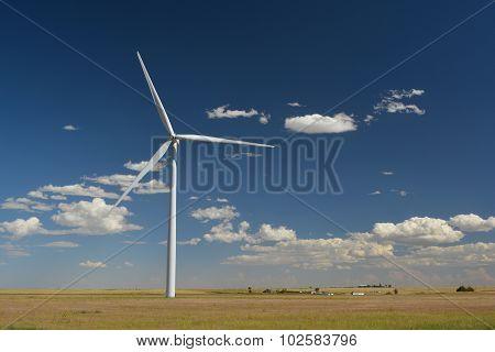 Single Wind Turbine in a Field