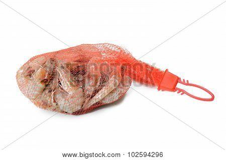 Seafood Fresh Shrimp Isolated On White Background